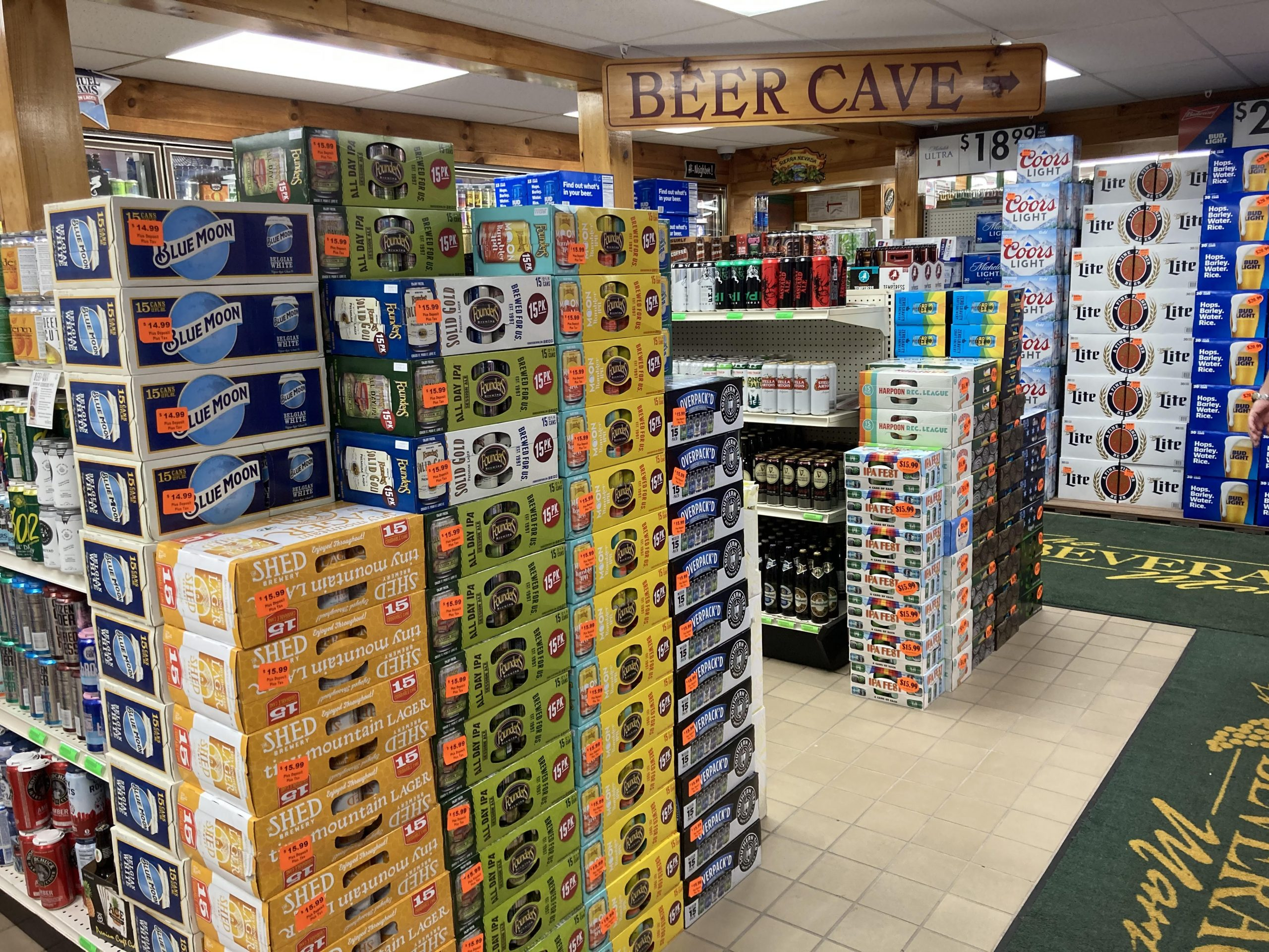 Beer Cave at Beverage Mart in St. Albans, Vermont
