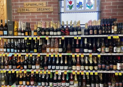 Carrying a variety of wines